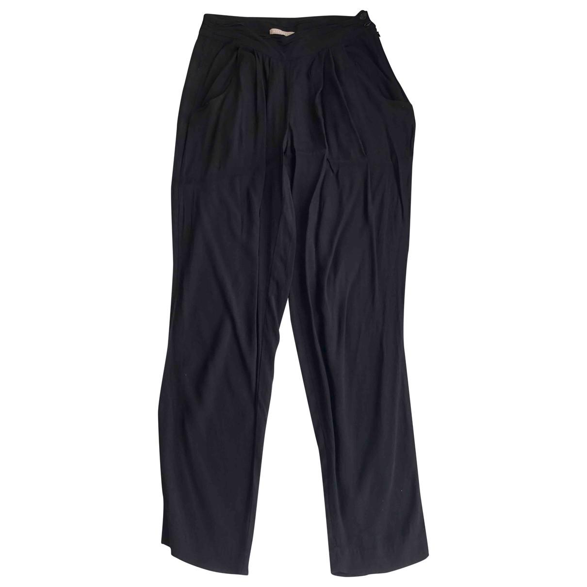 Stefanel \N Black Trousers for Women 40 IT