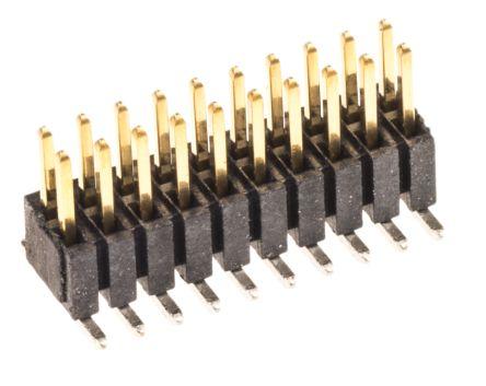 Samtec , FTSH, 20 Way, 2 Row, Straight Pin Header