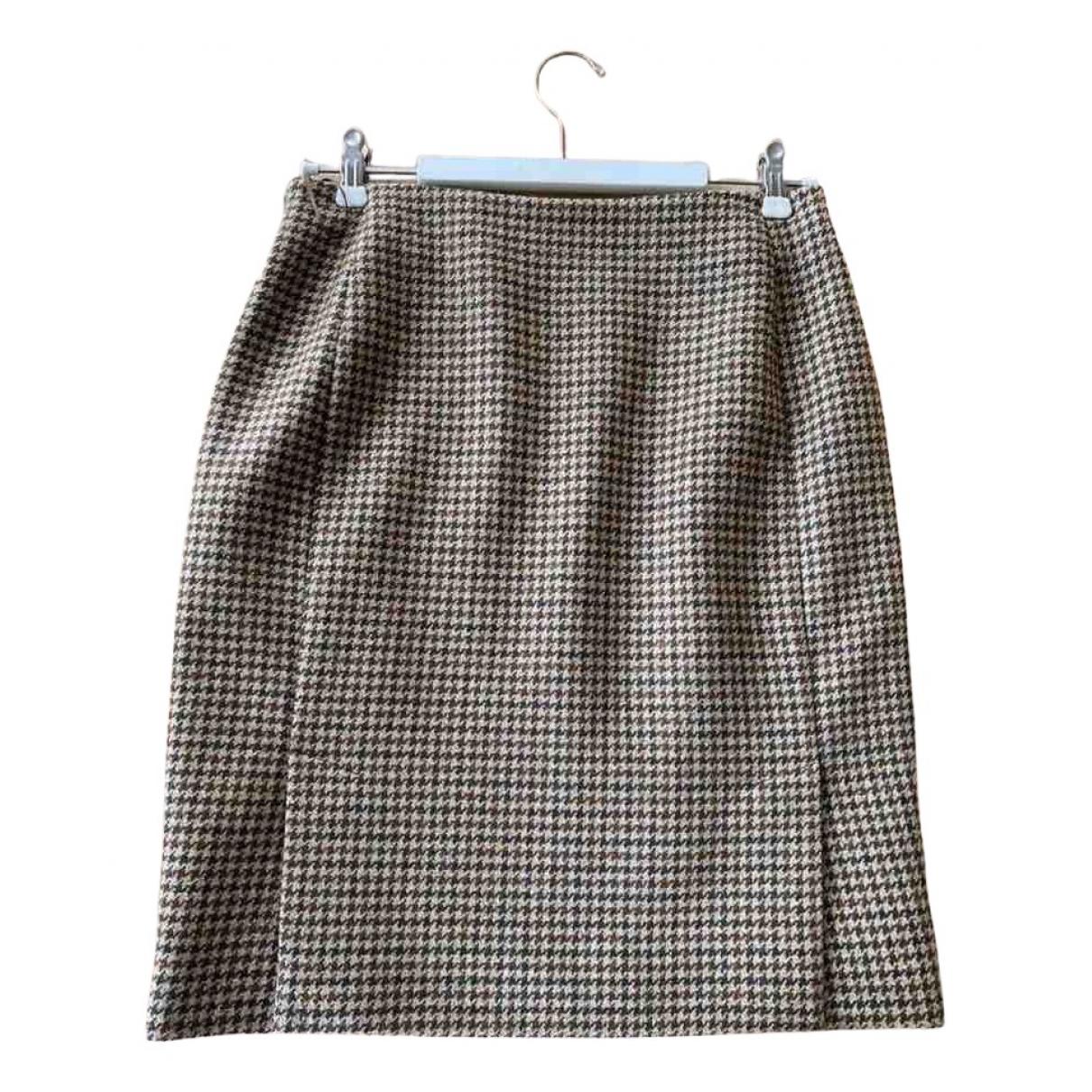 Balenciaga - Jupe   pour femme en laine - marron