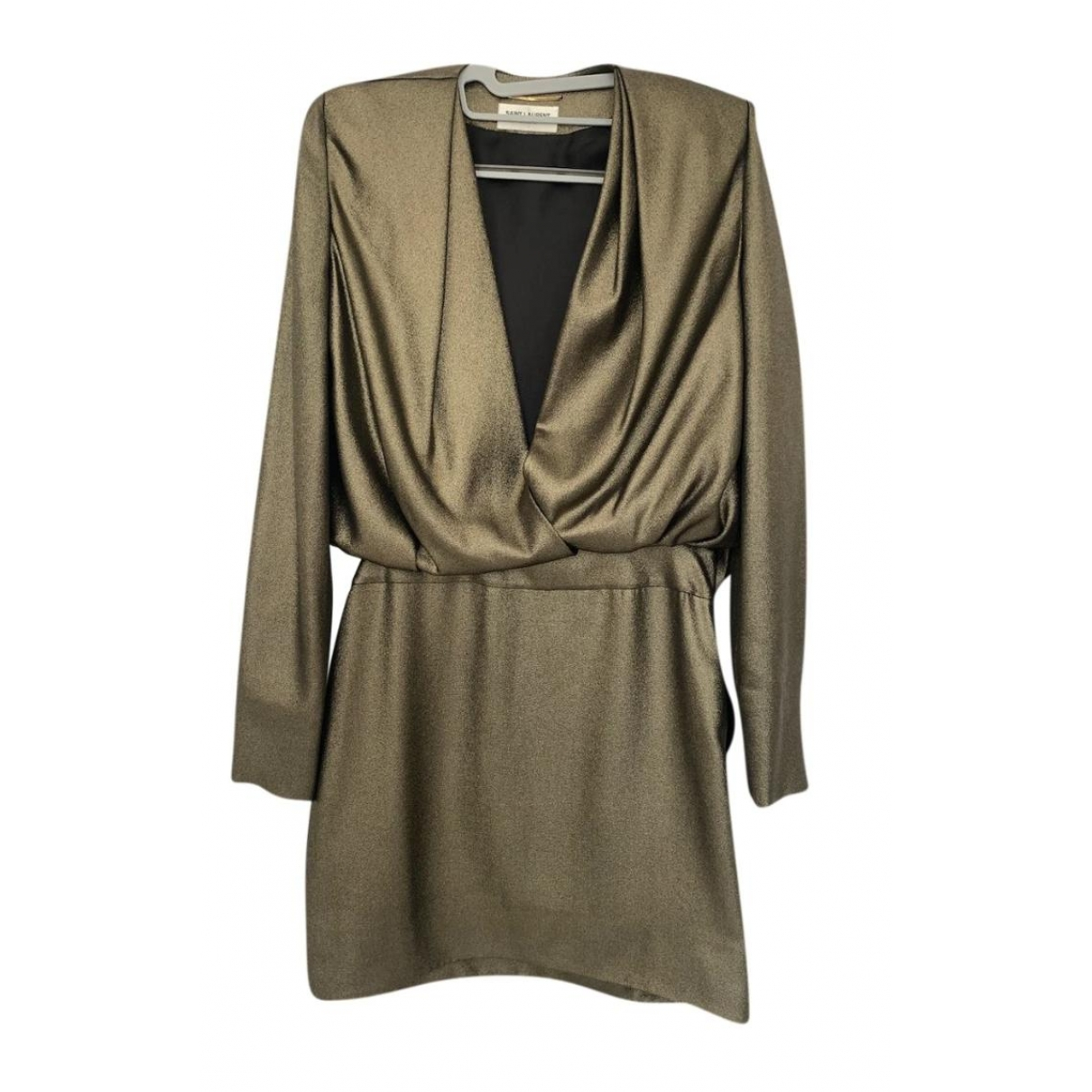 Saint Laurent \N Gold Silk dress for Women 38 FR