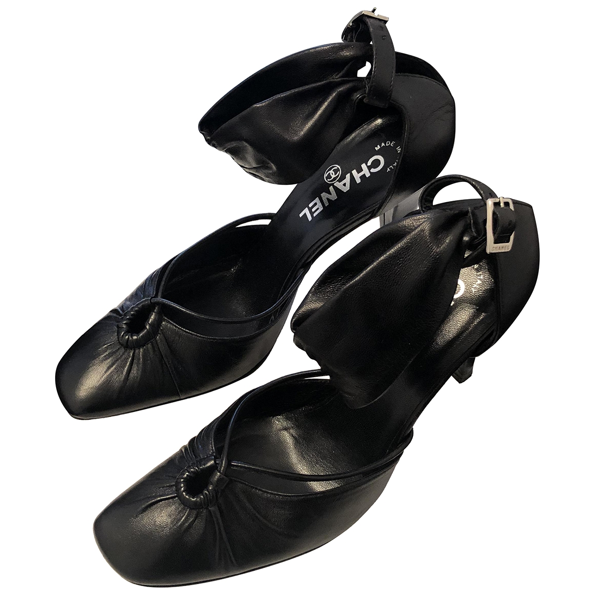 Chanel - Escarpins   pour femme en cuir - noir