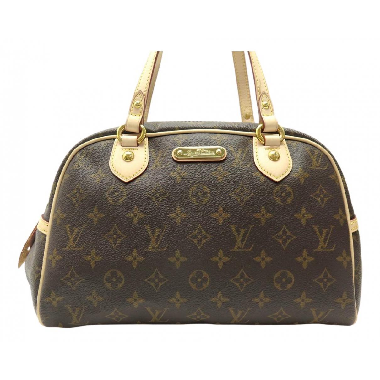 Louis Vuitton Montorgueil Handtasche in  Braun Leinen