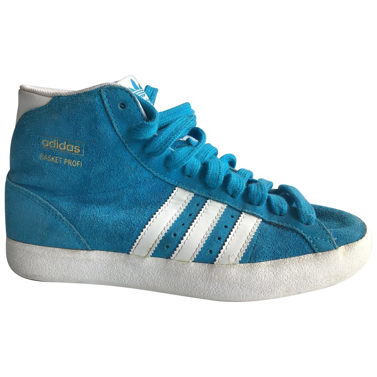 Adidas \N Sneakers in  Tuerkis Veloursleder