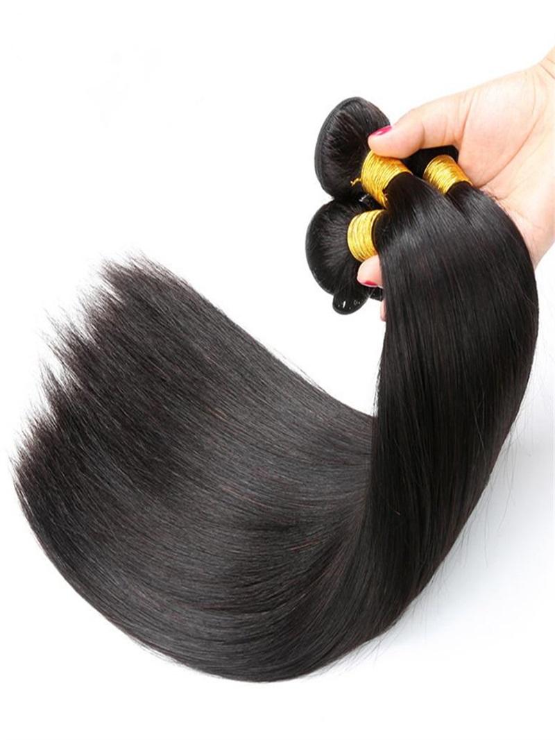 Ericdress Brazilian Virgin Human Hair Bundles Straight Unprocessed Hair Extensions 300g