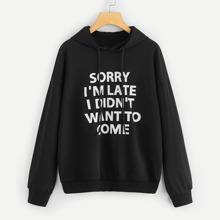 Schwarz Ziehbaendchen Buchstaben  Casual  Sweatshirts