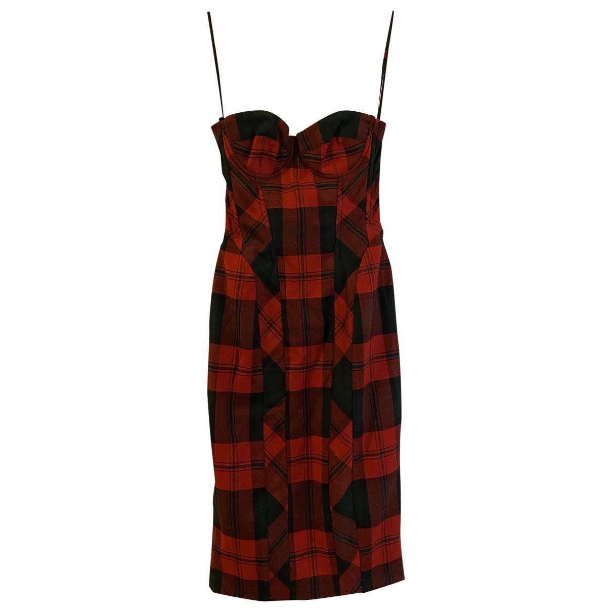 D&g \N Kleid in  Rot Wolle