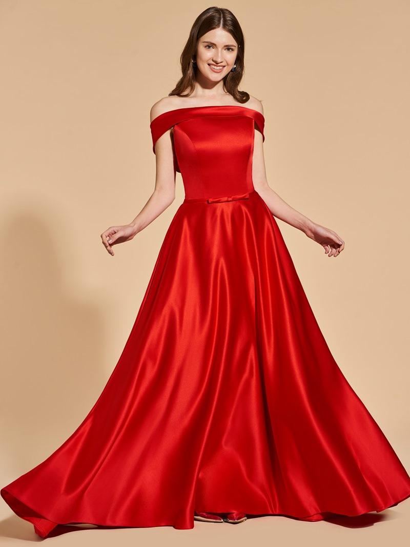 Ericdress A Line Off The Shoulder Deep Back Long Prom Dress
