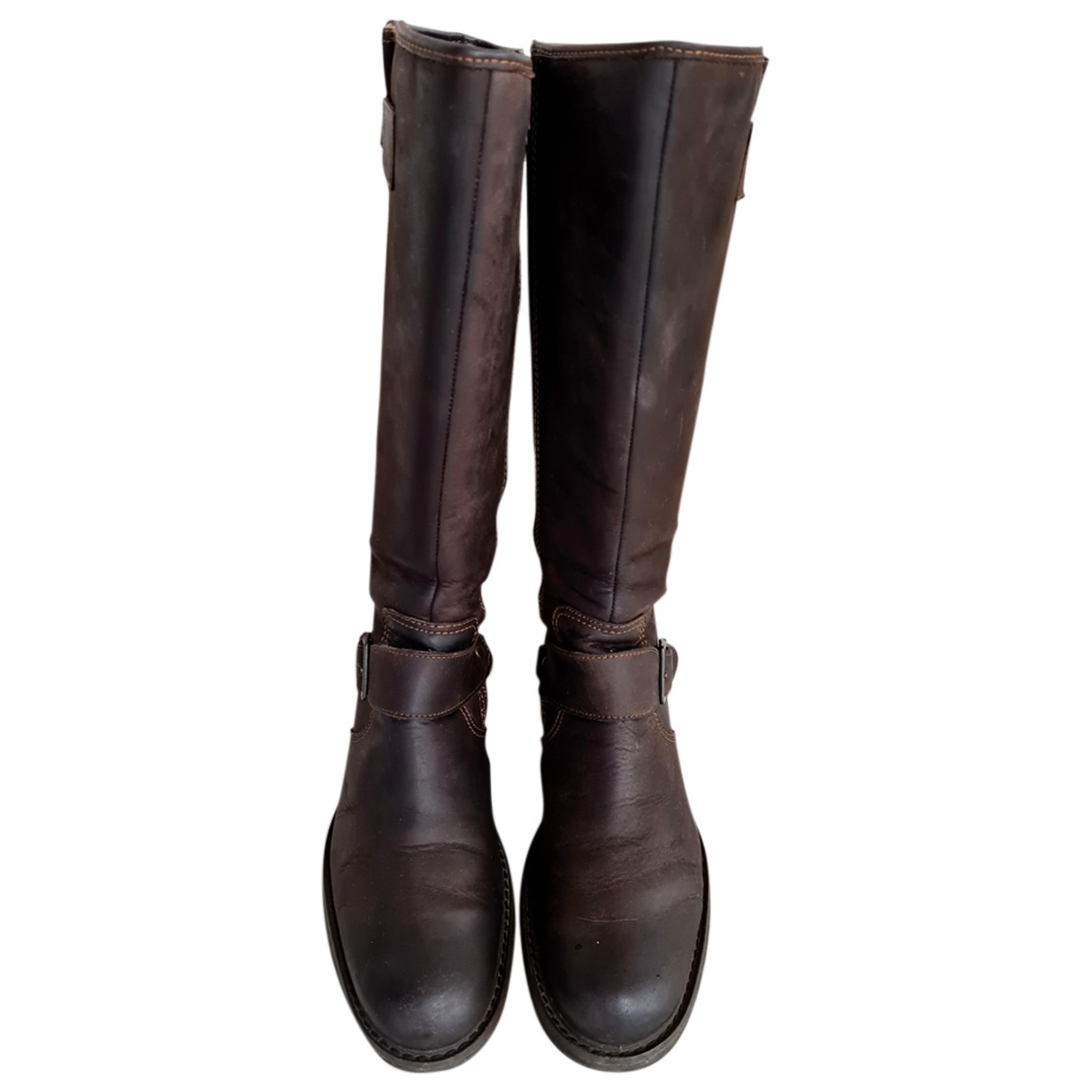 Timberland N Brown Leather Boots for Women 8 US