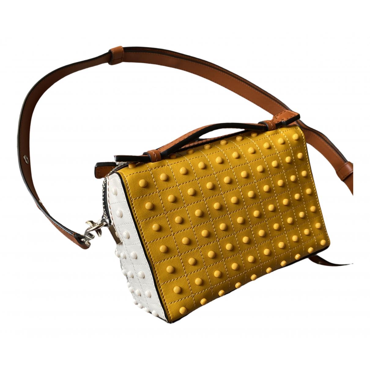 Tods \N Handtasche in  Gelb Leder