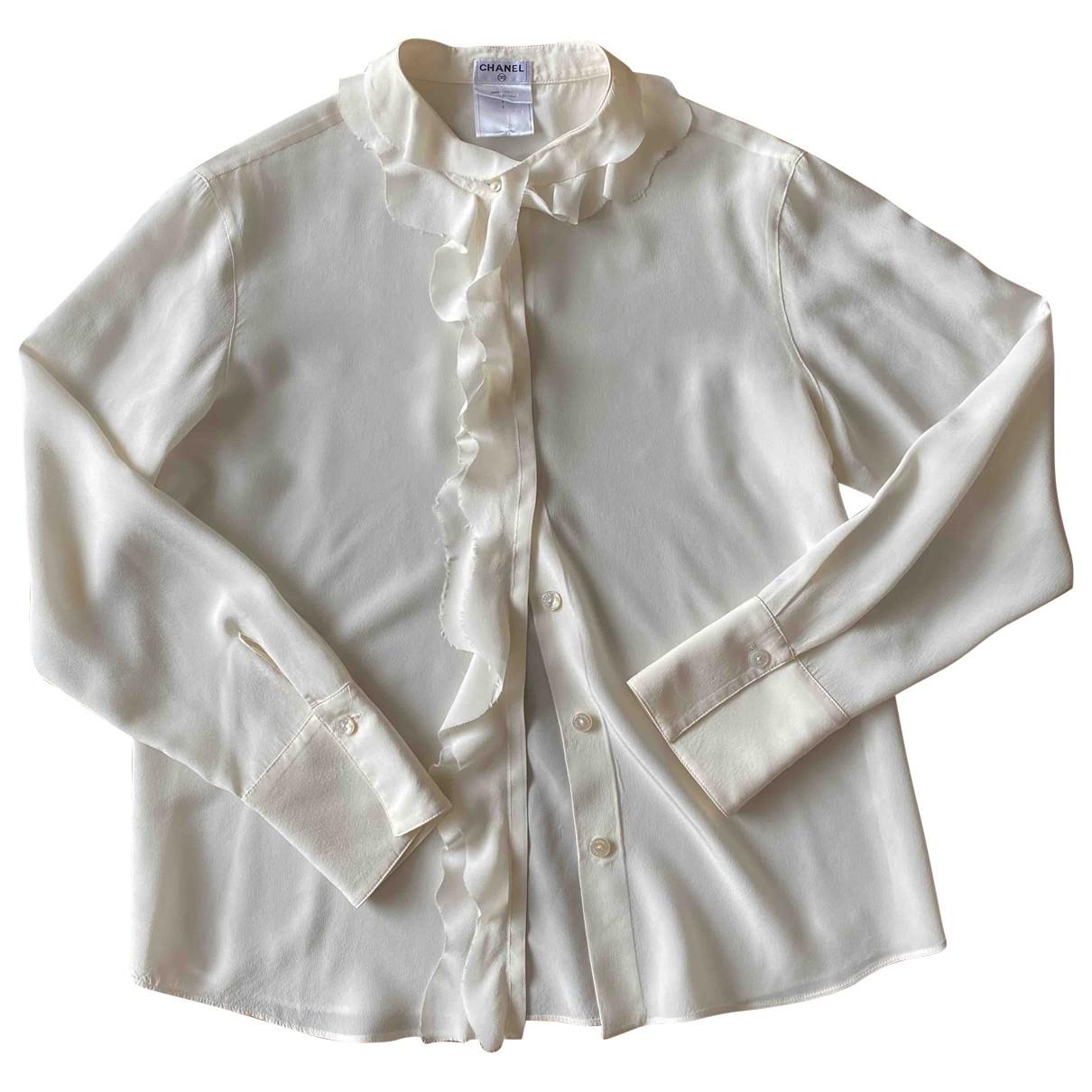 Chanel \N White Silk  top for Women 40 FR