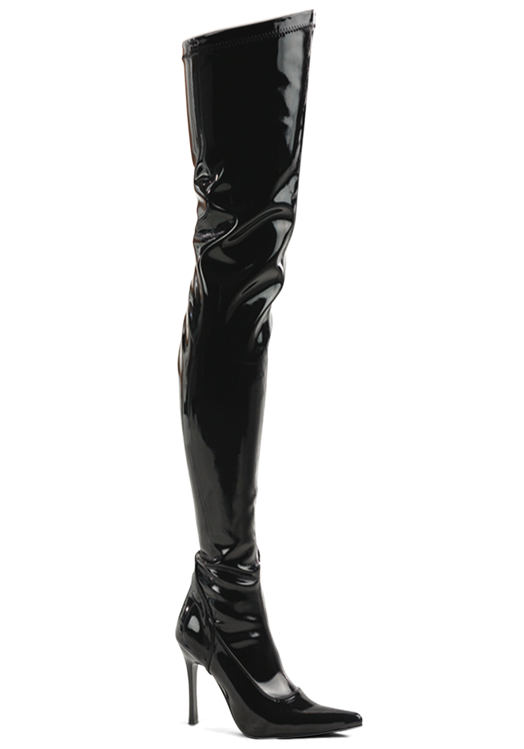Black Patent Over the Knee Costume Boot for Women