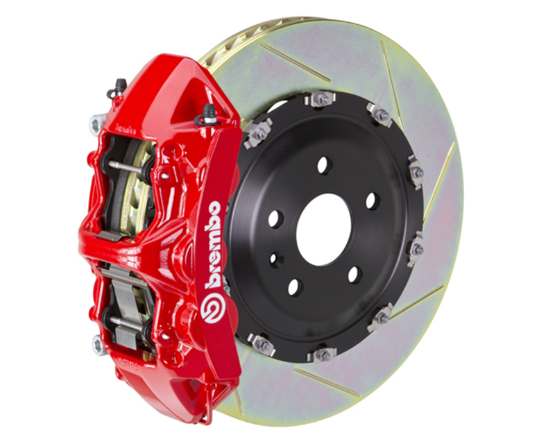 Brembo GT 380x34 6-Piston Red Slotted Front Big Brake Kit