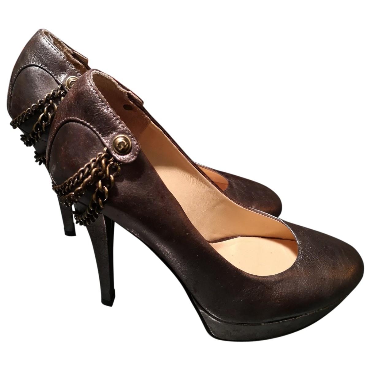 Guess \N Leather Heels for Women 37 EU