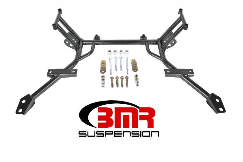 BMR Suspension KM009H Standard Rack Mounts K-member No Motor Mounts Black Ford Mustang 05-10