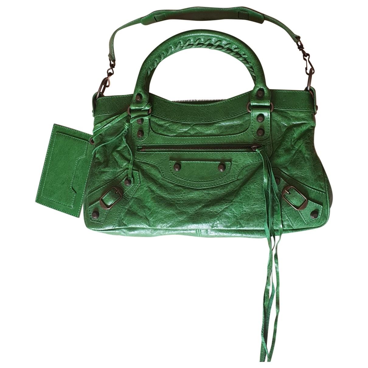 Balenciaga First Green Leather handbag for Women \N