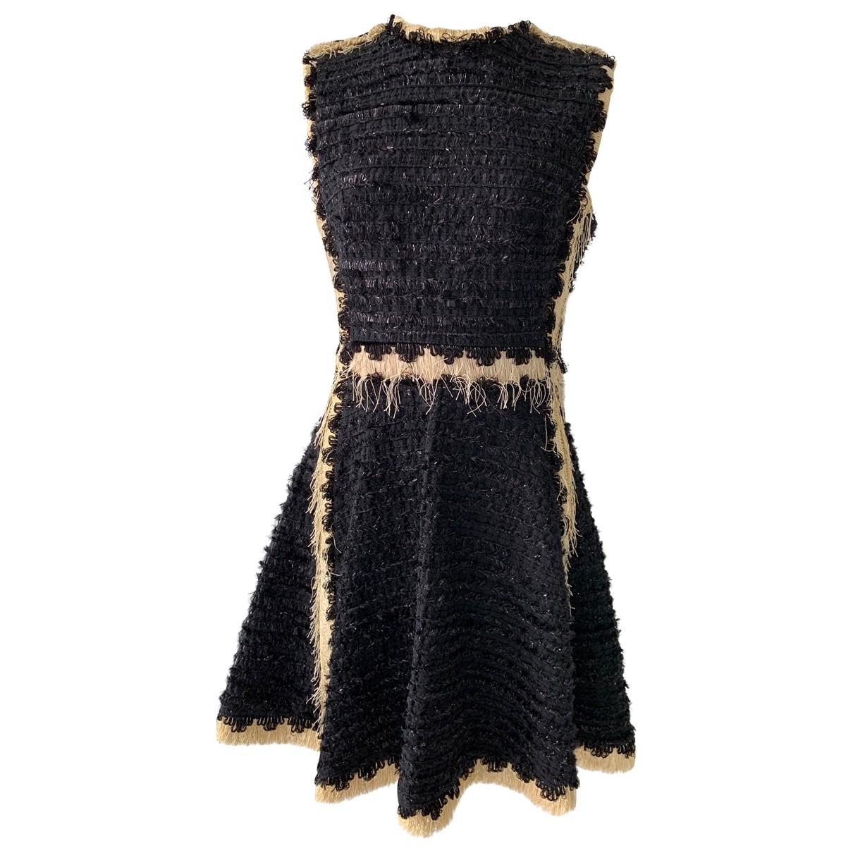 Lanvin \N Kleid in  Schwarz Baumwolle