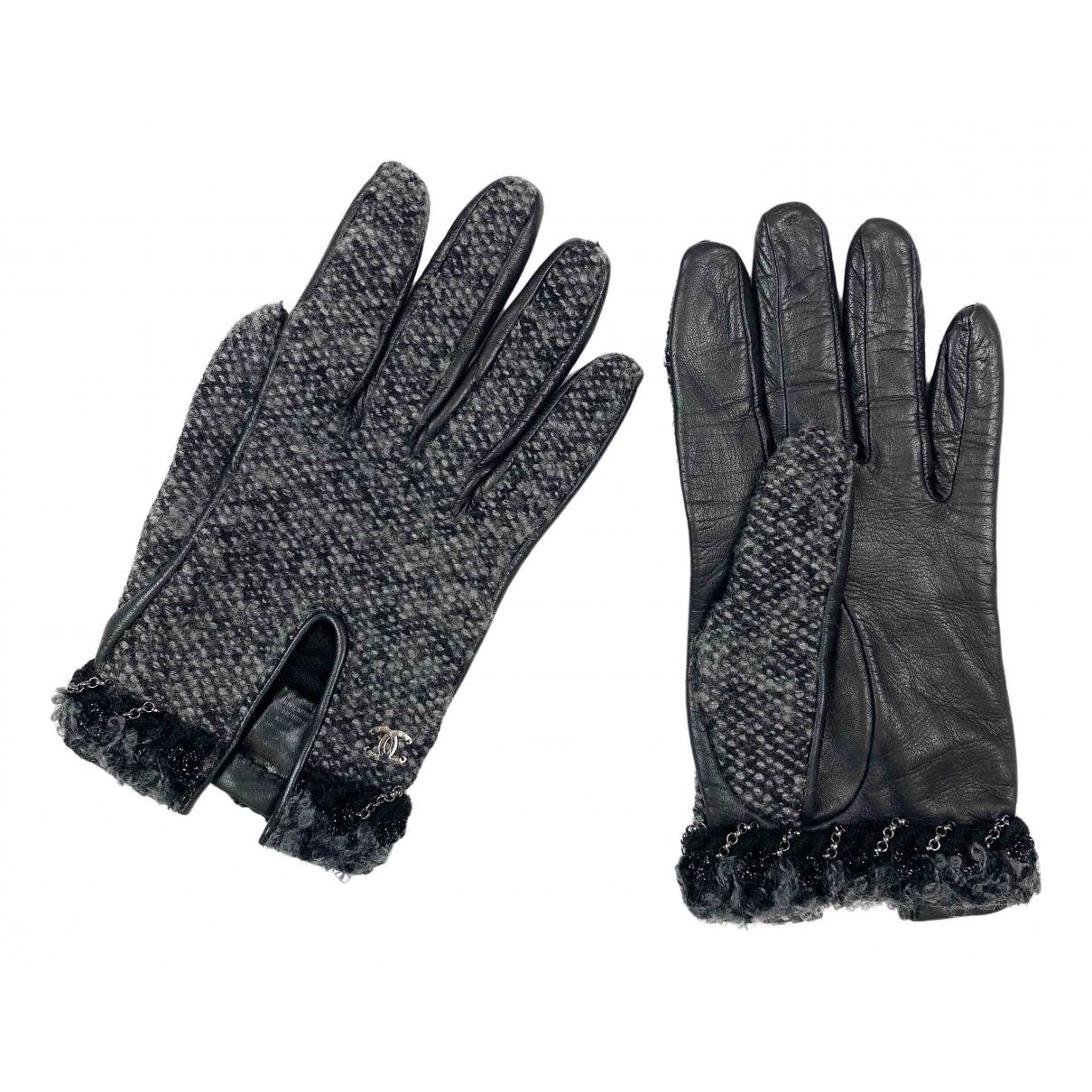 Chanel - Gants   pour femme en laine - noir