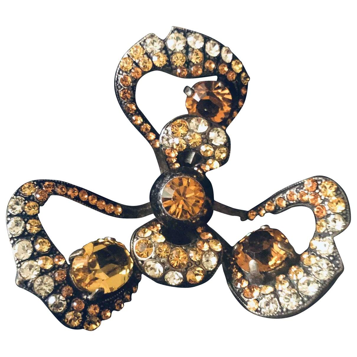 Lanvin - Bague   pour femme en cristal - jaune