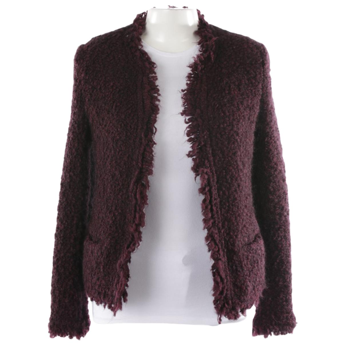 Iro N Purple Leather jacket for Women 38 FR