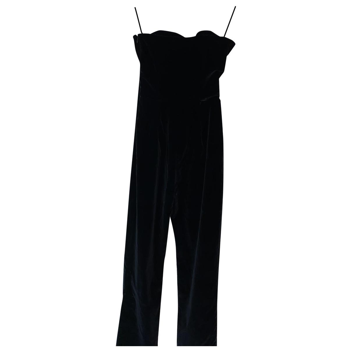 Isa Arfen - Combinaison   pour femme en coton - noir