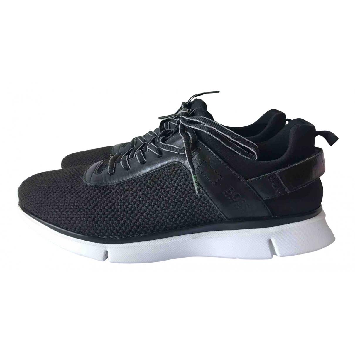 Boss \N Sneakers in  Schwarz Leinen