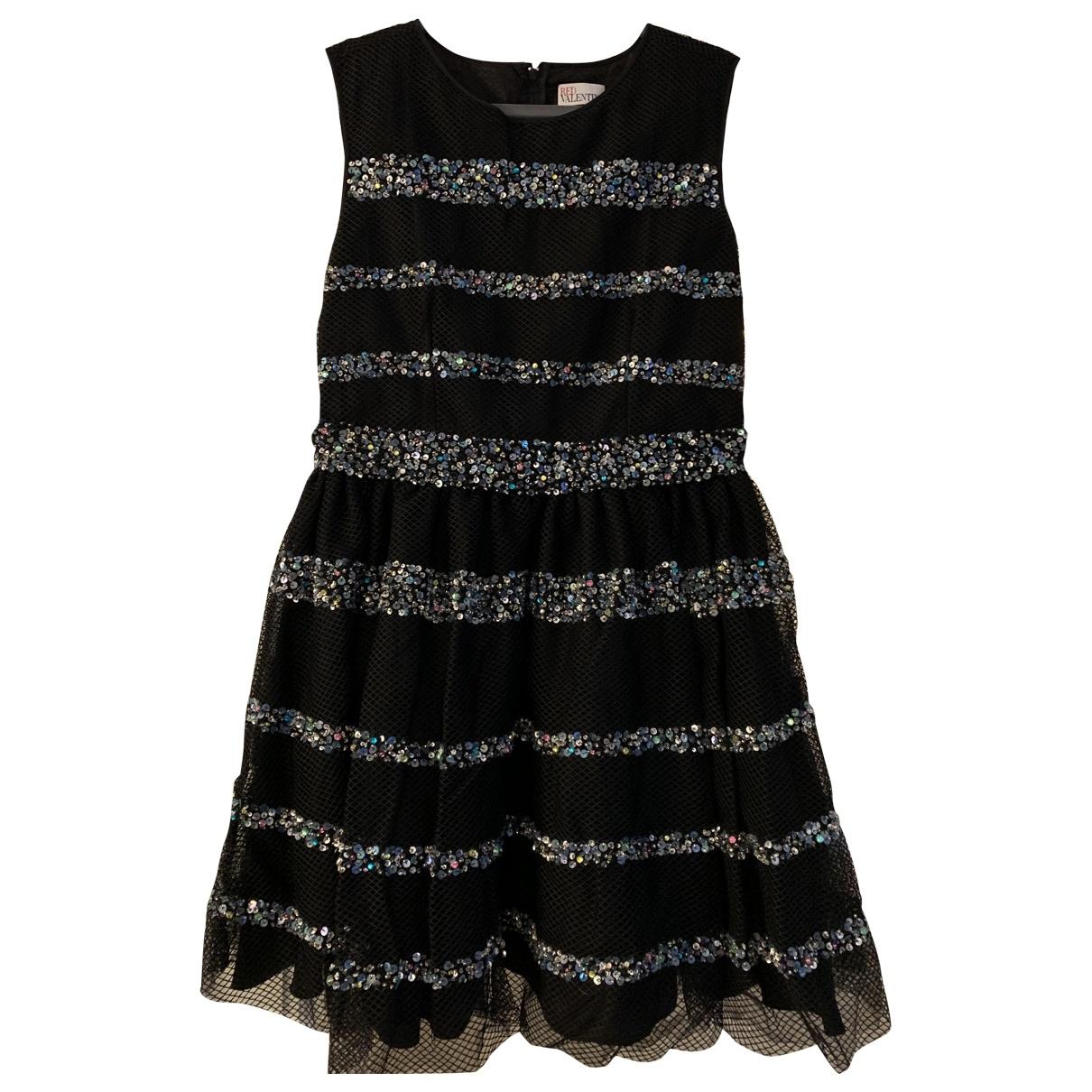 Red Valentino Garavani \N Black Glitter dress for Women 40 FR