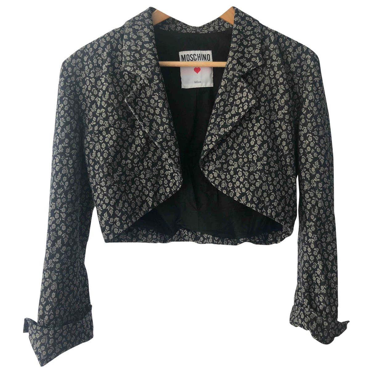 Moschino \N Black Cotton jacket for Women 36 FR