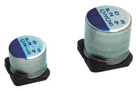 Nichicon 47μF Polymer Capacitor 25V dc, Surface Mount - PCF1E470MCL1GS (5)