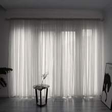 1pc Plain Sheer Curtain