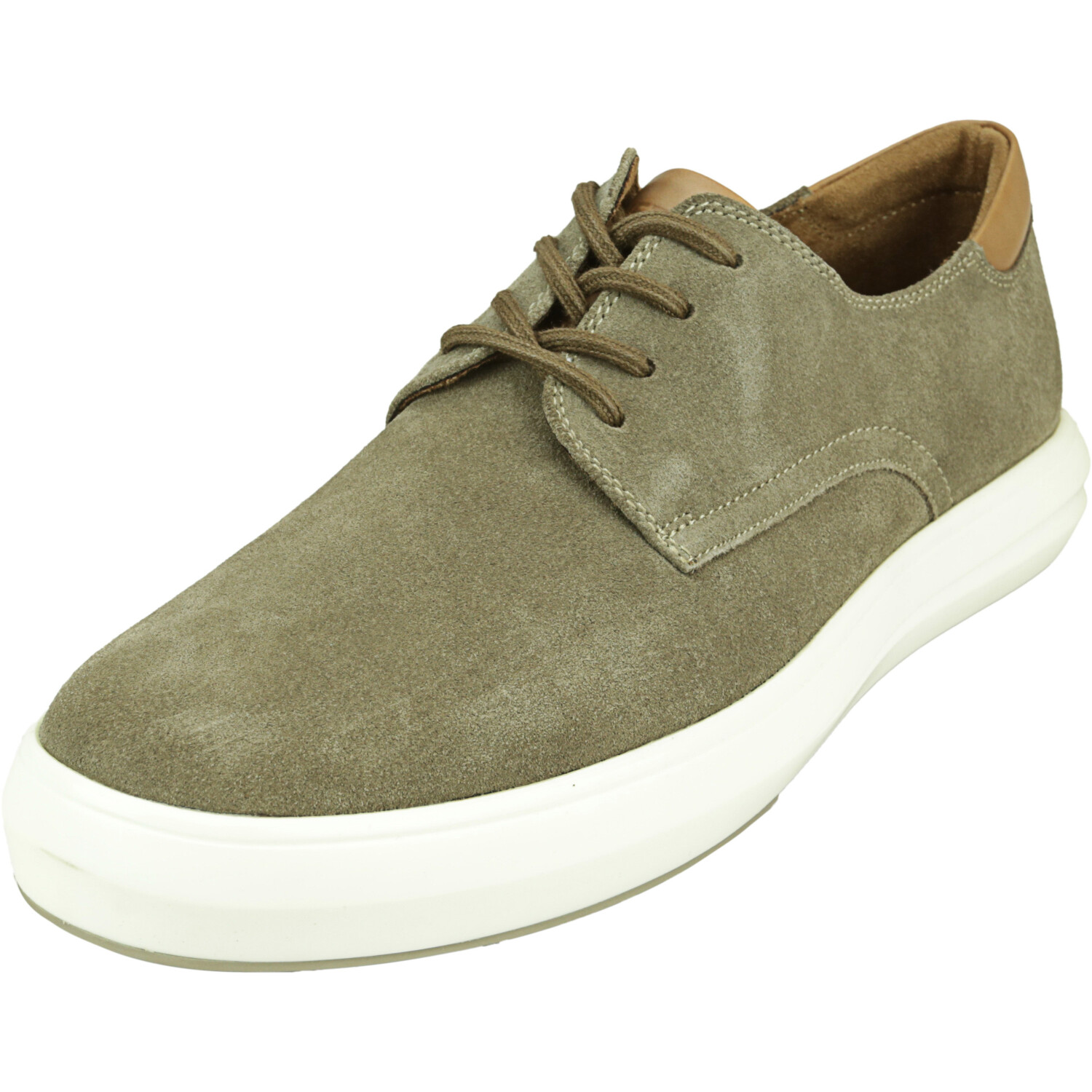 Kenneth Cole Men's The Mover Lace Up Taupe Low Top Leather Oxford - 8M