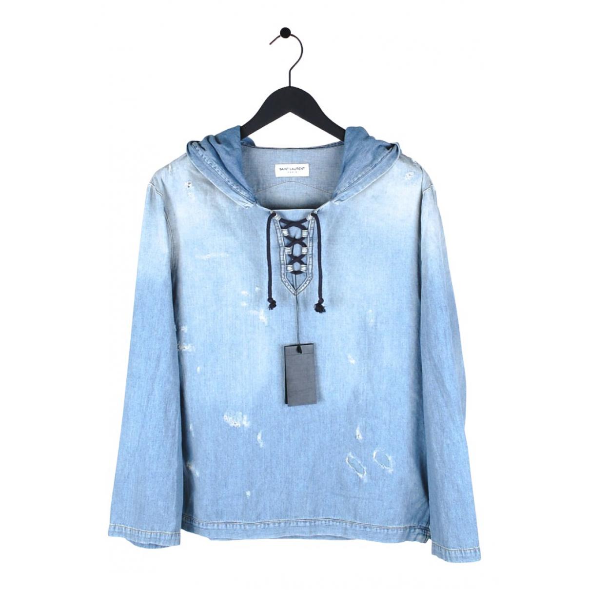 Saint Laurent N Blue Cotton Knitwear & Sweatshirts for Men M International