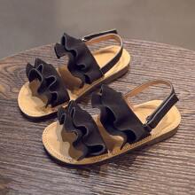 Kleinkind Maedchen Sandalen mit Raffung Dekor und Fersenriemen