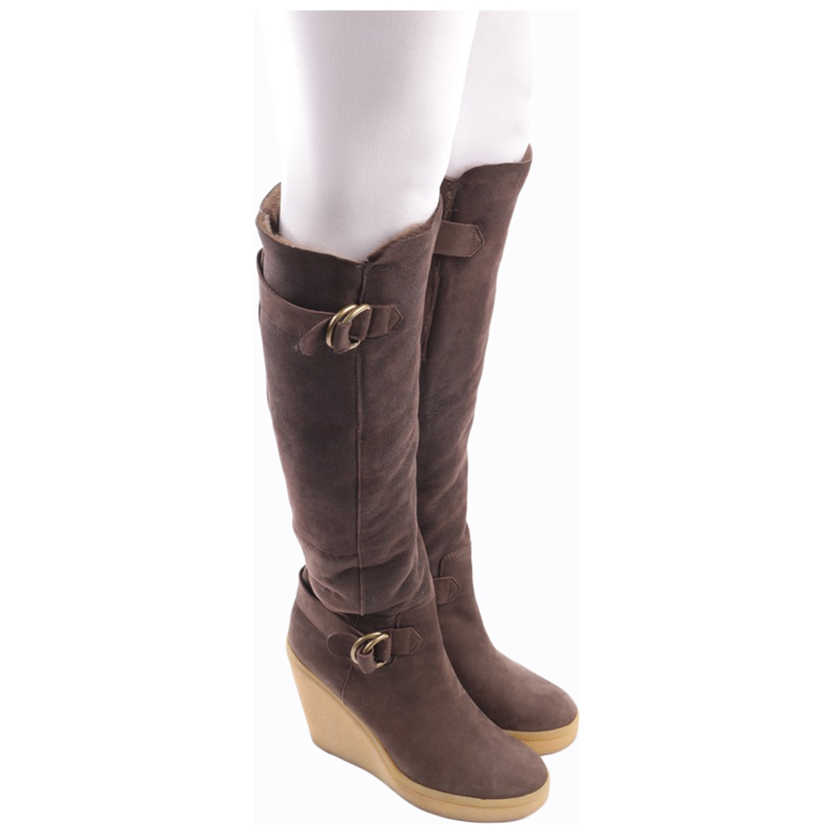 Hugo Boss \N Brown Leather Boots for Women 39 EU