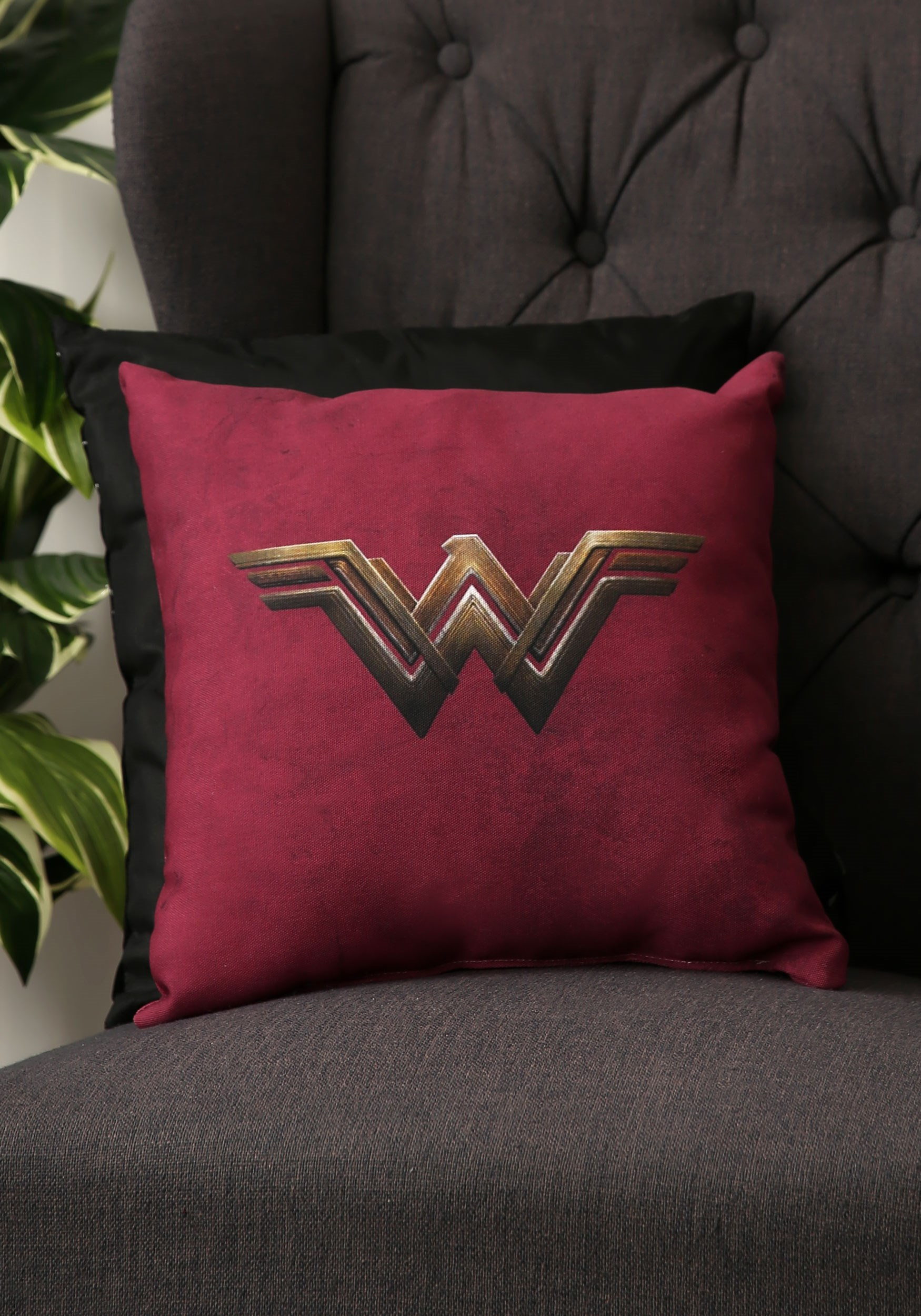 Wonder Woman Movie Logo 14 x 14 Throw Pillow