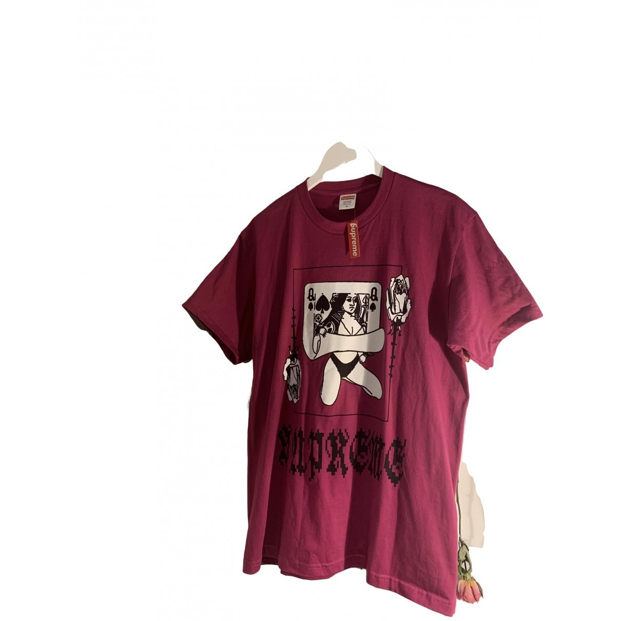 Supreme - Tee shirts   pour homme en coton - violet