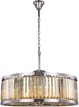 1233D35PN-GT/RC 1233 Chelsea Collection Chandelier D:35.5In H:15.5In Lt:10 Polished Nickel Finish (Royal Cut