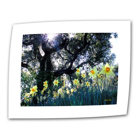 Brushstone Daffodils And The Oak Canvas Wall Art, One Size , Green