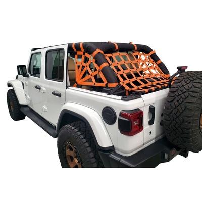 DirtyDog 4x4 3-Piece Cargo Netting Kit with Spider Sides (Orange) - JL4N18RSOR