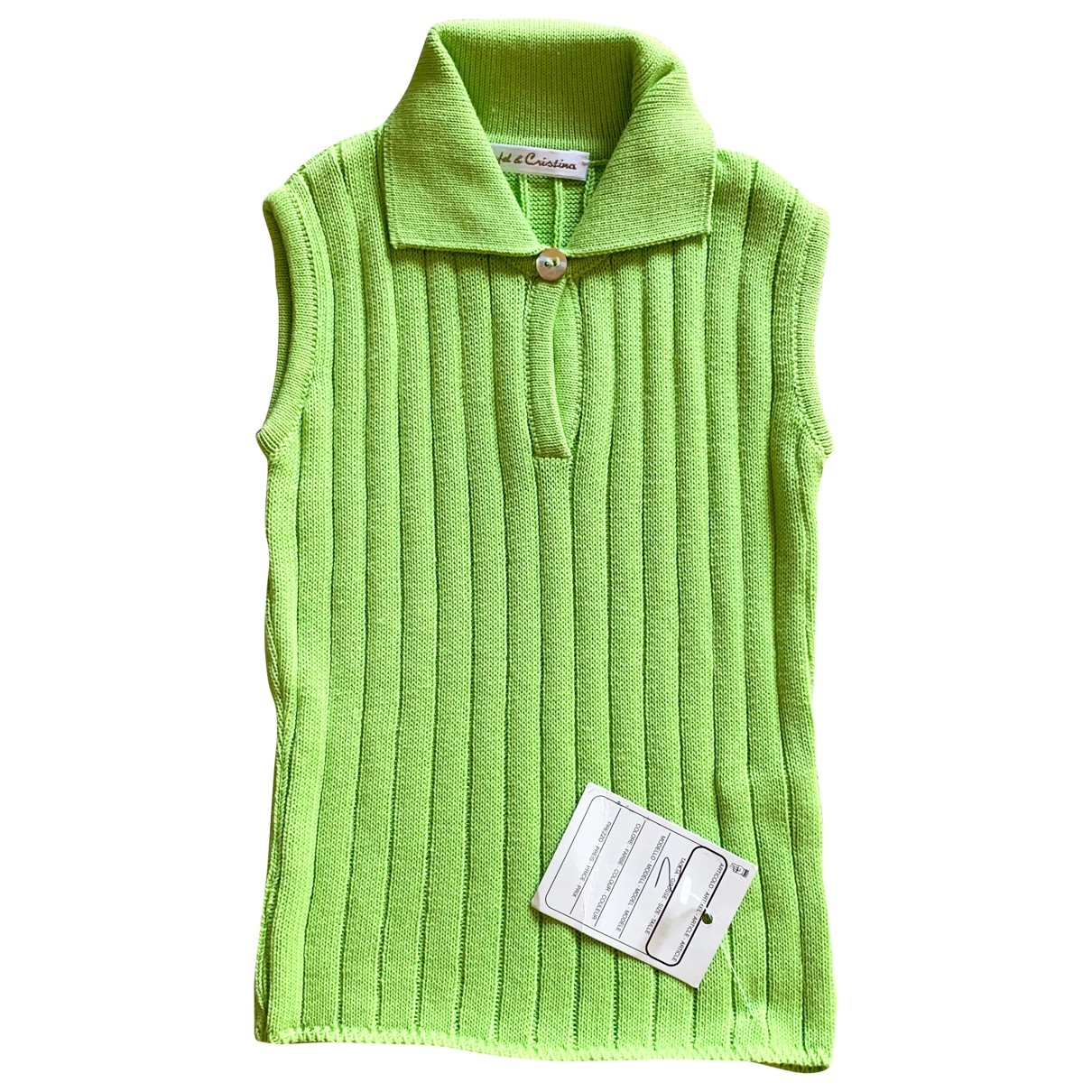 Non Signé / Unsigned \N Green Cotton  top for Kids 2 years - up to 86cm FR