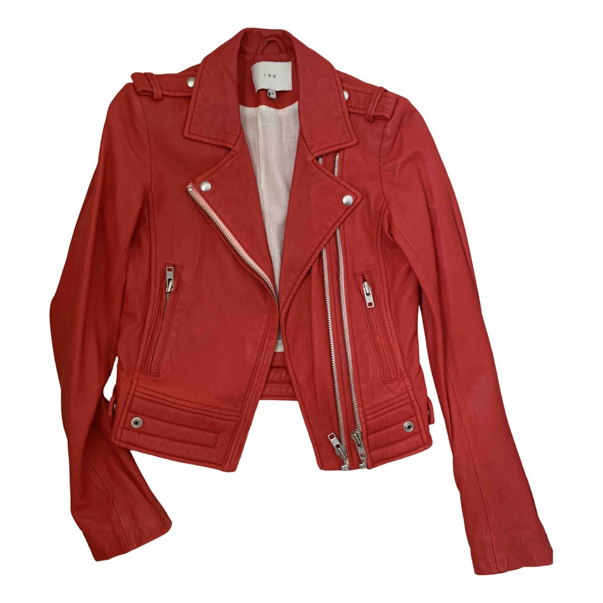 Iro - Veste   pour femme en cuir - rouge