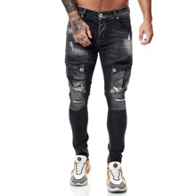Guys Pocket Front Distressed Skinny Jeans