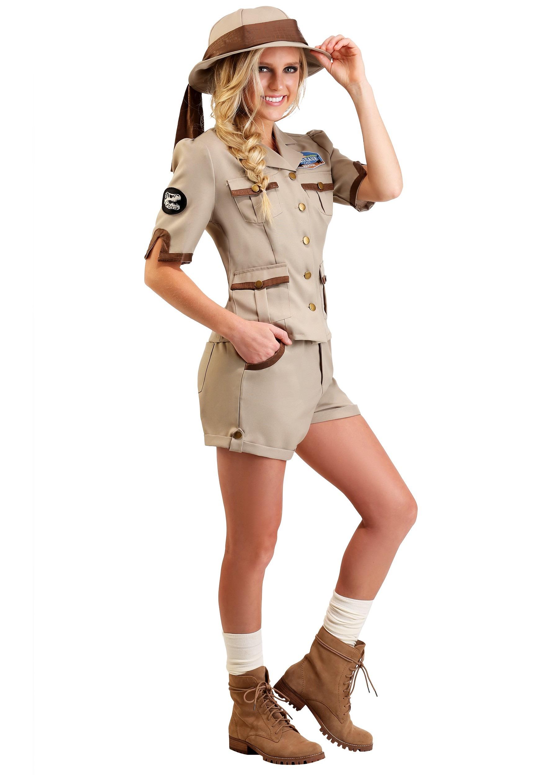 Paleontologist Costume for Women Archaeologist Women's Costume
