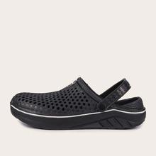 Sandalias de hombres con abertura de punta redonda