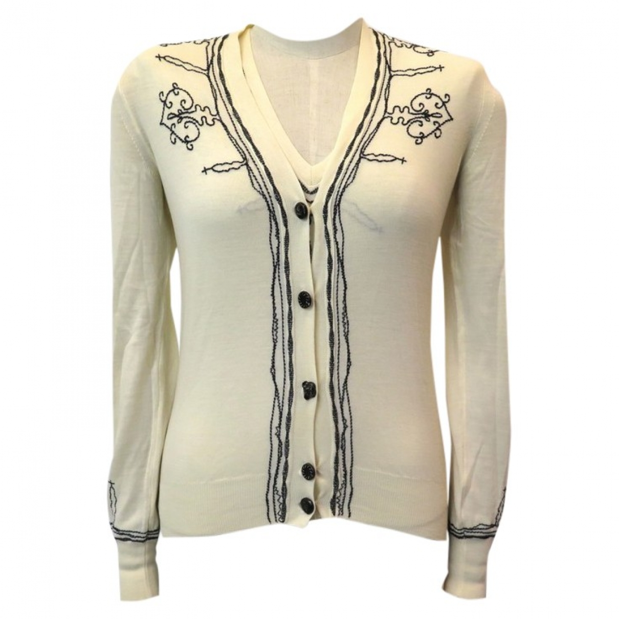 Yves Saint Laurent \N Pullover in  Beige Wolle