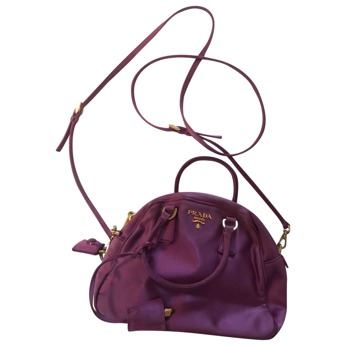 Prada \N Purple Silk handbag for Women \N