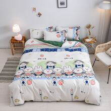 Cartoon Graphic Bedding Set Without Filler
