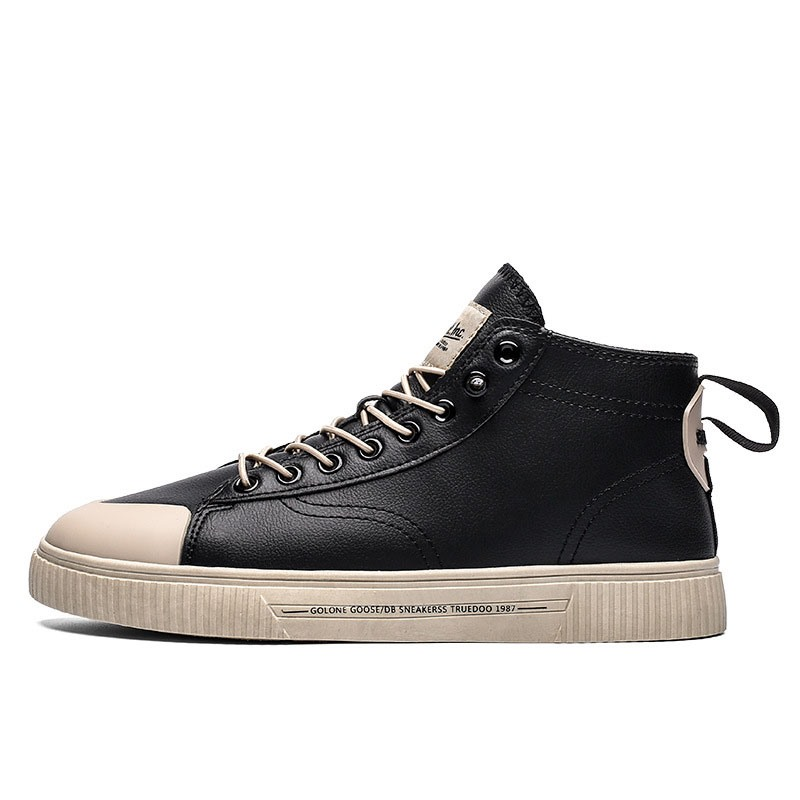Ericdress Lace-Up Mid Calf Round Toe Men's Skate Shoes