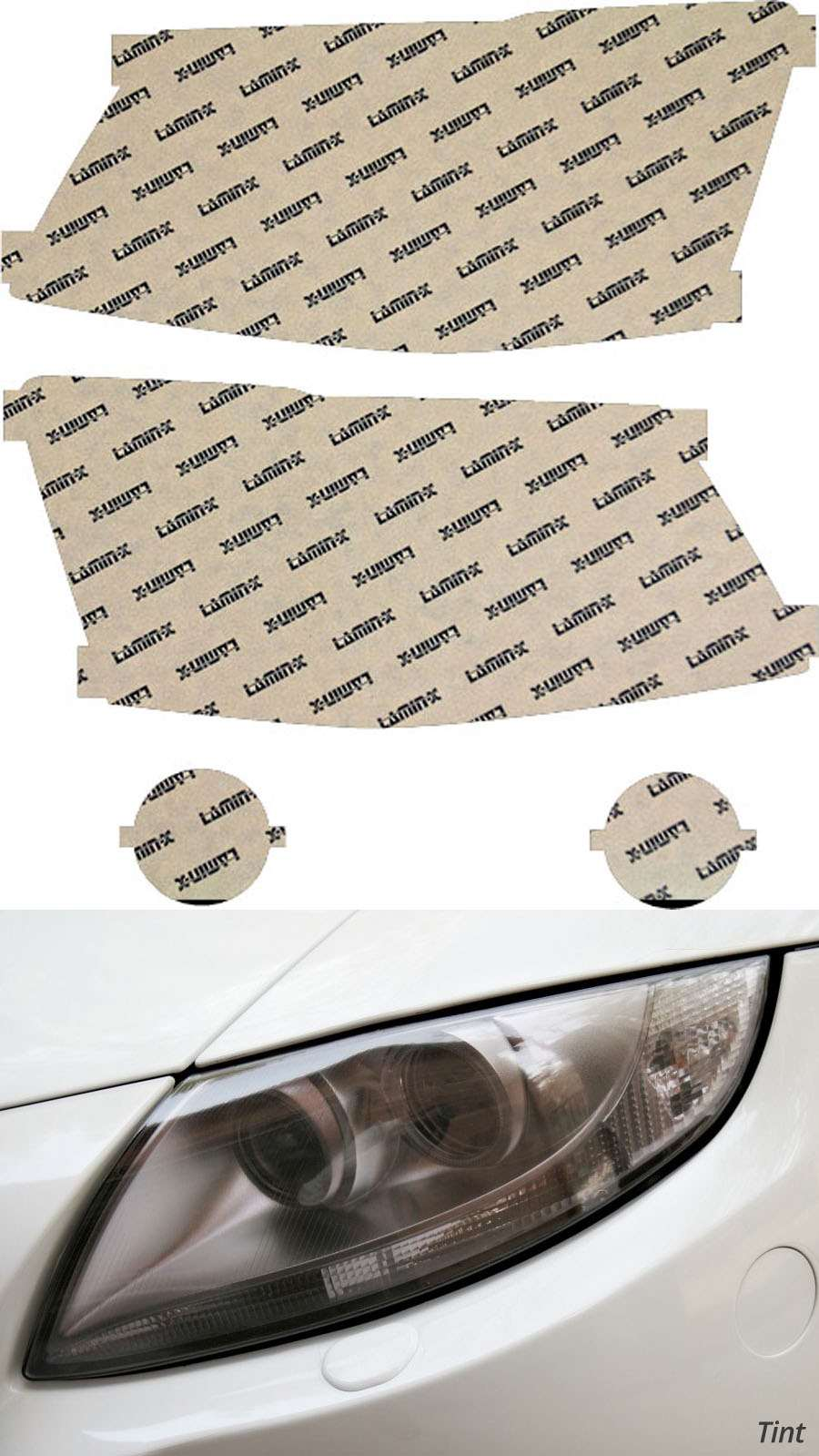 Dodge Grand Caravan 08-10 Tint Headlight Covers Lamin-X D019T