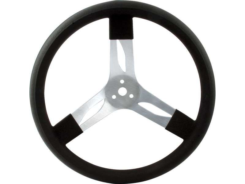 Quickcar Racing Products 15 inches Steering Wheel Alum Black