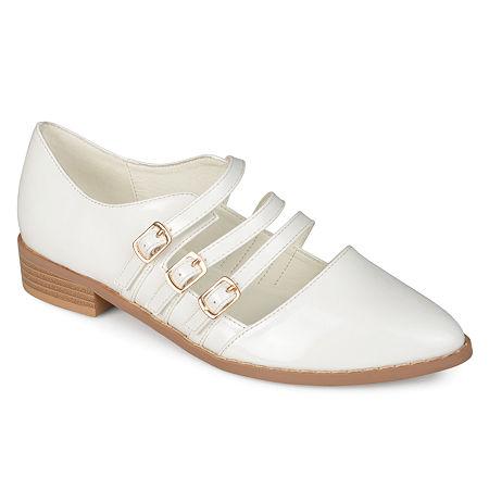 Journee Collection Womens Elyse Slip-On Shoe, 8 Medium, White